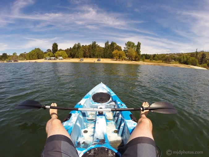 A lovely day for a paddle on Lake Jindabyne
