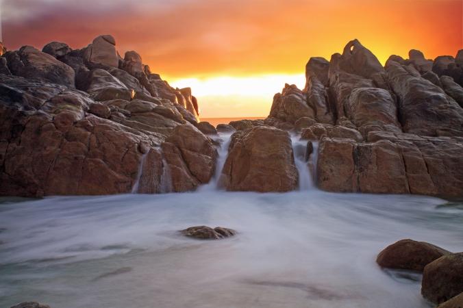 Spa sunset
